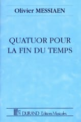 Quatuor pour la Fin du Temps MESSIAEN Partition laflutedepan