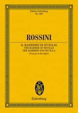 Gioacchino Rossini - Der Barbier Von Sevilla (Ouvertüre) - Conducteur - Partition - di-arezzo.fr