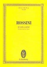 Gioacchino Rossini - Ouverture de Sémiramis - Partition - di-arezzo.fr