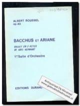 Albert Roussel - Bacchus et Ariane - Suite n° 1 op. 43 – Conducteur - Partition - di-arezzo.fr