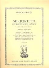 BOCCHERINI - Quintetto n° 5 ré maggiore G. 449 - Partition - di-arezzo.fr