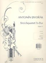 Streichquartett Es Dur op. 51 -Stimmen DVORAK Partition laflutedepan