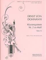 Klavierquintett n° 2 es-moll -Stimmen DOHNÁNYI laflutedepan.com