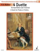 Franz Xaver Richter - 4 Duette - 2 Flöten (o. Violinen) - Partition - di-arezzo.fr