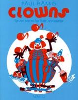 Clowns Paul Harris Partition Flûte traversière - laflutedepan.com