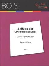 Claude-Henry Joubert - Ballade des Cinq Roses Noveles - Partition - di-arezzo.fr
