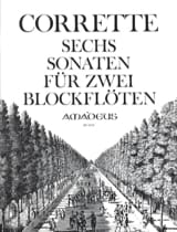 6 Sonaten für zwei Blockflöten op. 2 Michel Corrette laflutedepan.com