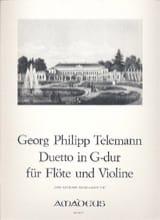 Duetto en Sol Majeur Georg Philipp Telemann Partition laflutedepan.com