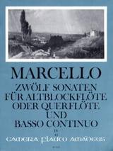 Benedetto Marcello - 12 Sonaten op. 2 - Bd. 4 - Altblockflöte o. Flöte und Bc - Partition - di-arezzo.fr