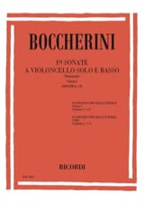 BOCCHERINI - 19 Sonatas, Volume 1 G. 1-9 - Sheet Music - di-arezzo.co.uk