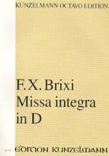 Missa integra in D Frantisek Xaver Brixi Partition laflutedepan