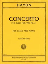 Joseph Haydn - Concerto in D major Hob 7 n ° 2 - Cello - Sheet Music - di-arezzo.co.uk