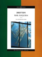 War Requiem - Score BRITTEN Partition Grand format - laflutedepan