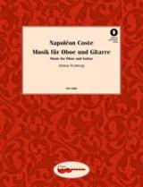 Music for Oboe and Guitar Napoléon Coste Partition laflutedepan.com
