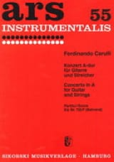 Concerto in A for guitare and strings - Score laflutedepan.com