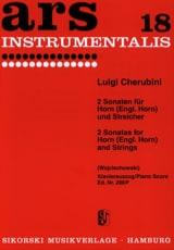 Luigi Cherubini - 2 Sonaten für Horn Engl. Horn und Streichorchester - Partition - di-arezzo.fr