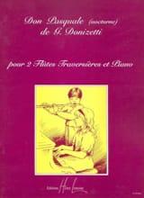 Gaetano Donizetti - Don Pasquale (Nocturne) - 2 Flûtes piano - Partition - di-arezzo.fr