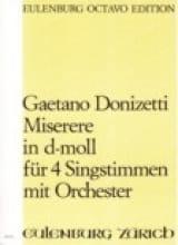 Gaetano Donizetti - Miserere d-moll – Partitur - Partition - di-arezzo.fr