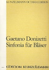 Gaetano Donizetti - Sinfonia für Bläser – Partitur - Partition - di-arezzo.fr