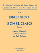 Ernest Bloch - Schelomo – Conducteur - Partition - di-arezzo.fr