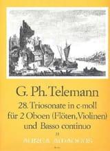 Georg Philipp Telemann - Triosonate Nr. 28 c-moll –2 Oboen und BC - Partition - di-arezzo.fr