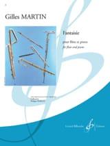 Gilles Martin - Fantaisie - Partition - di-arezzo.fr