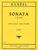 Sonata in Bb major – Cello Georg Friedrich Haendel laflutedepan.com