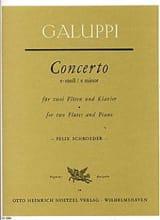 Baldassare Galuppi - Concerto e-moll - 2 Flöten, Violinen, Viola, BC – Partitur - Partition - di-arezzo.fr
