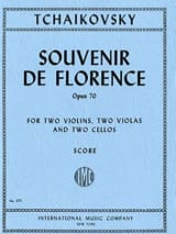 TCHAIKOVSKY - Souvenir of Florence op. 70 - Score - Sheet Music - di-arezzo.co.uk