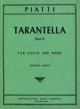 Tarantella op. 23 Alfredo C. Piatti Partition laflutedepan.com