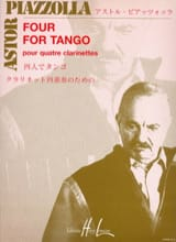 Astor Piazzolla - Four for Tango - 4 Clarinettes - Partition - di-arezzo.fr