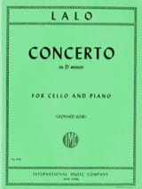 Edouard Lalo - Cello Concerto in D minor - Sheet Music - di-arezzo.com
