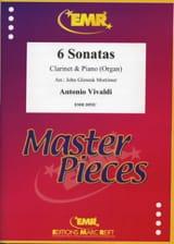 VIVALDI - 6 Sonatas -Clarinet piano organ - Partition - di-arezzo.fr