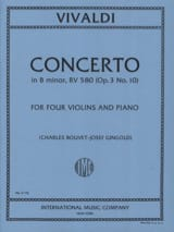 Concerto in B minor RV 580 (op. 3 n° 10) – 4 Violins piano - laflutedepan.com