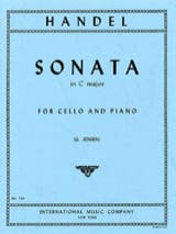 Sonata in C major – Cello - Georg Friedrich Haendel - laflutedepan.com