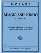 MOZART - Adagio and Rondo KV 617 - Glass Flute Harmonica oboe viola cello - Sheet Music - di-arezzo.com