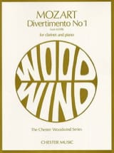 MOZART - Divertimento No. 1 KV 439b - Clarinet and piano - Sheet Music - di-arezzo.co.uk