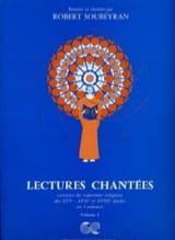 Robert Soubeyran - Lectures Chantées Volume 1 Avec Accompagnement - Partition - di-arezzo.fr