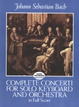 BACH - Complete Concerti For Solo Keyboard And Orchestra - Full Score - Partition - di-arezzo.fr
