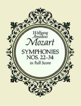 MOZART - Symphonies N° 22-34 - Full Score - Partition - di-arezzo.fr