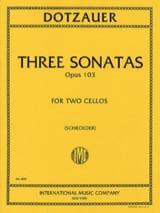 Friedrich Dotzauer - 3 Sonatas op. 103 - Partition - di-arezzo.fr