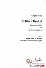 Folklore musical François Rossé Partition Solfèges - laflutedepan.com
