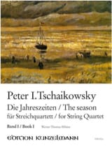 TCHAIKOVSKY - The seasons, Volume 1 - String quartet - Partition - di-arezzo.fr