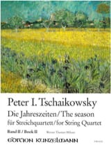 TCHAIKOVSKY - The Seasons, Volume 2 - String quartet - Partition - di-arezzo.fr