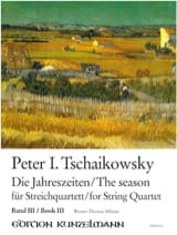 TCHAIKOVSKY - The Seasons, Volume 3 - String quartet - Partition - di-arezzo.fr