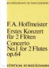 Franz Anton Hoffmeister - Konzert N° 1 Für 2 Flöten Op. 64 –partitur - Partition - di-arezzo.fr