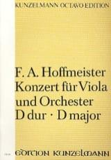 Konzert Für Viola D-Dur - Partitur - HOFFMEISTER laflutedepan