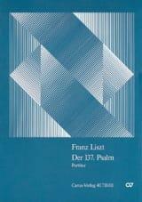 Franz Liszt - Der 137. Psalm – Partitur - Partition - di-arezzo.fr