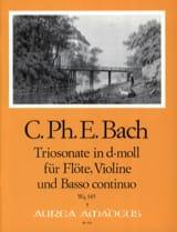 Carl Philipp Emanuel Bach - Triosonate D Moll (Wq 145) -flöte Violine U. Bc - Partition - di-arezzo.fr