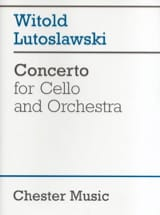 Witold Lutoslawski - Concerto for cello and orchestra - Score - Partition - di-arezzo.fr